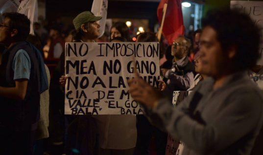 Poblanos marchan por inconformidad ante presunto fraude electoral