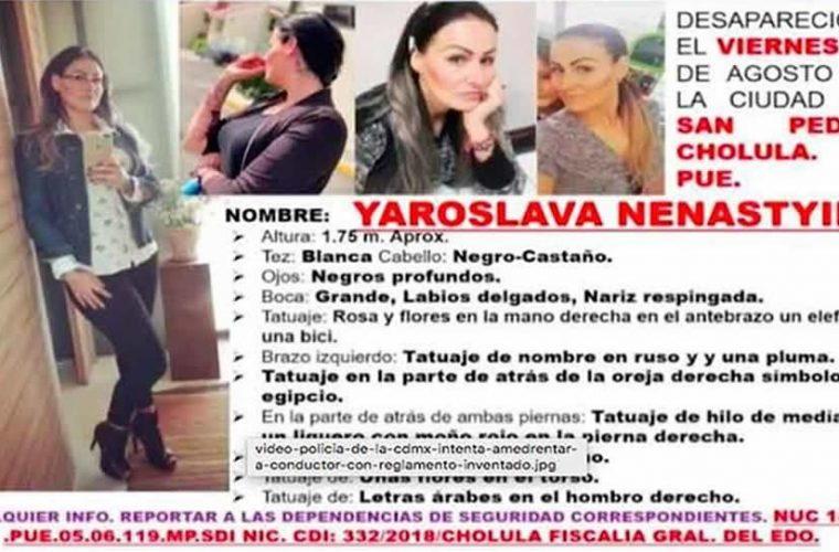 Feminicidio #61: Tras 14 días desaparecida hallan muerta a ucraniana en Huejotzingo