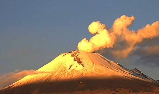 Popocatépetl registra 121 exhalaciones en las últimas 24 horas