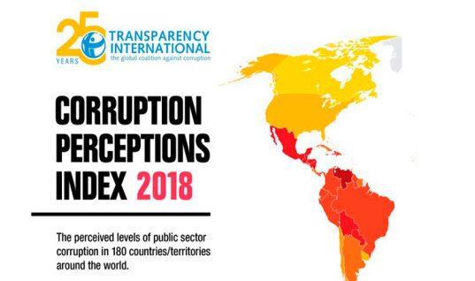 Venezuela y Nicaragua, los más corruptos en América Latina