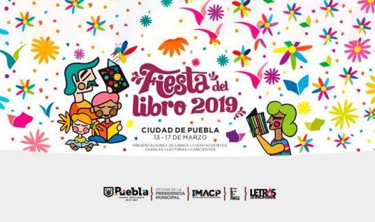 Inauguran la Fiesta del Libro 2019 en el Zócalo de Puebla