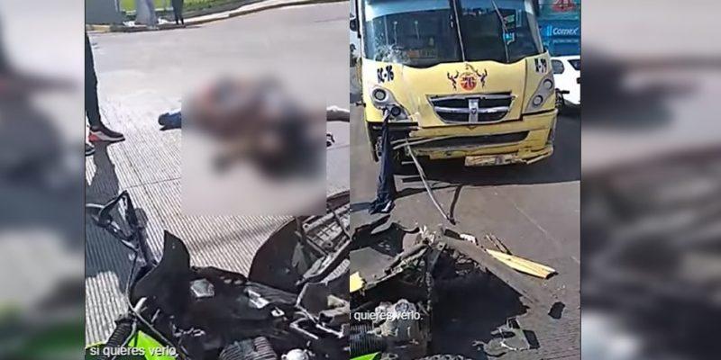 Ruta 76 atropella y asesina a pareja motociclista [VIDEO]
