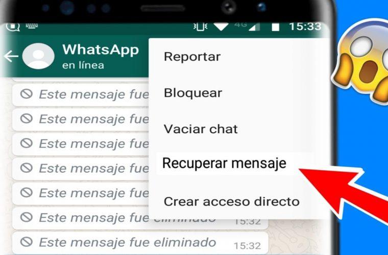 Lanzan app para leer los mensajes eliminados en WhatsApp