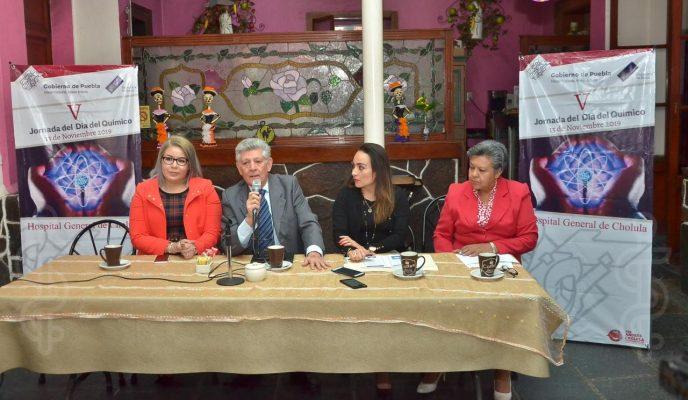 Impartirán pláticas magistrales en el Hospital General de Cholula por Día del Químico
