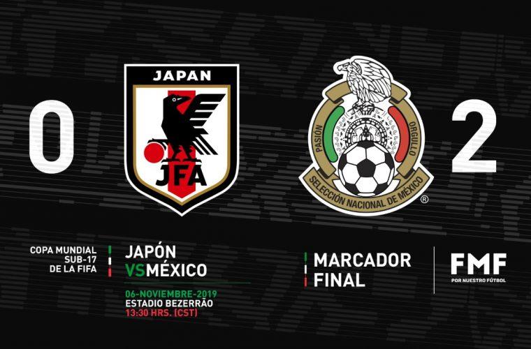 México llega a los Cuartos de Final del Mundial Sub-17; derrota a Japón