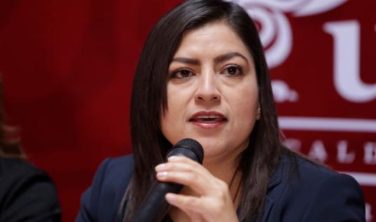 Claudia Rivera asegura que combate la corrupción al interior de la Policía Municipal